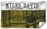 Miles Davis - Miles & Milt Fleece Blanket Fleece Blanket