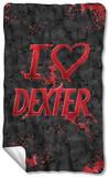 Dexter - I Heart Dexter Fleece Blanket Fleece Blanket