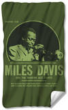 Miles Davis - Green Miles Fleece Blanket Fleece Blanket