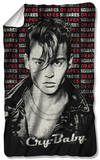 Cry Baby - Drapes & Squares Fleece Blanket Fleece Blanket