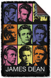 James Dean - Color Block Woven Throw Throw Blanket