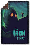 Iron Giant - Look To The Stars Woven Throw Throw Blanket