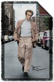 James Dean - Colorful Walk Woven Throw Throw Blanket