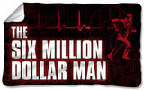 Six Million Dollar Man - Logo Fleece Blanket Fleece Blanket