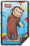 Curious George - Paint Woven Throw Throw Blanket