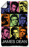 James Dean - Color Block Fleece Blanket Fleece Blanket