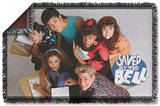 Saved By The Bell - Group Shot Woven Throw Throw Blanket