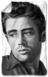 James Dean - Stare Fleece Blanket Fleece Blanket