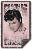 Elvis - Soft Lights Woven Throw Throw Blanket