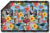 Elvis - Blue Hawaii Woven Throw Throw Blanket