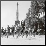 Champs de Mars Gardens Mounted Print by Robert Doisneau