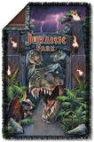 Jurassic Park - Welcome To The Park Woven Throw Throw Blanket