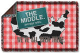 The Middle - Been There Woven Throw Throw Blanket