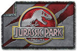 Jurassic Park - Slash Logo Woven Throw Throw Blanket