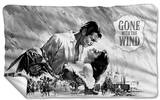 Gone With The Wind - Bw Poster Fleece Blanket Fleece Blanket