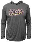 Longsleeve Hooded Shirt: Major League - Logo T-Shirts