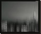 Chrysler Building Motion Landscape 2 Stretched Canvas Print by Len Prince