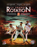 Detroit Tigers Cy Young Rotation Composite Photo