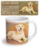 Yellow Labrador Mug Taza