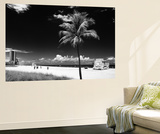 Miami Beach with Life Guard Station - Florida - USA Wall Mural by Philippe Hugonnard