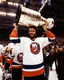 Ken Morrow with the 1983 Stanley Cup Championship Trophy Photo