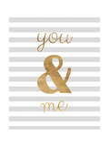 You and Me are Golden Premium Giclee Print by Miyo Amori