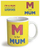 M is Mum Mug Taza