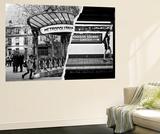 Dual Torn Posters Series - Paris - New York Wall Mural by Philippe Hugonnard