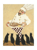 Cats and Fish Premium Giclee Print by Carole Katchen