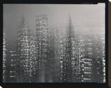 NYC Motion Landscape Stretched Canvas Print by Len Prince