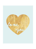 Heart of Gold Love Premium Giclee Print by Miyo Amori