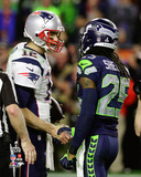 Tom Brady & Richard Sherman Super Bowl XLIX Photo