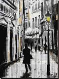 Ruelle Stretched Canvas Print by Loui Jover