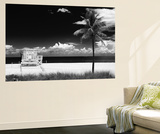 South Miami Beach Landscape with Life Guard Station - Florida Reproduction murale par Philippe Hugonnard