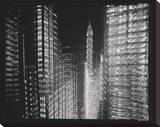 Chrysler Building Motion Landscape 4 Stretched Canvas Print by Len Prince