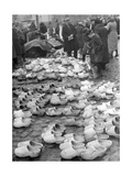 Timber Shoe Market in Memel, 1939 Photographic Print by  Knorr & Hirth