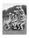 Circus Arts with Bikes, 1930 Photographic Print by  Scherl