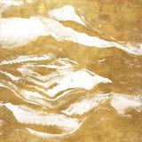 Gold Crystalline I (gold foil) Print by Lanie Loreth