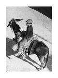 Junge auf einem Esel in Italien, 1939 Photographic Print by  Knorr & Hirth