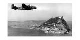 Flugzeug der RAF über Gibraltar, 1930er Jahre Photographic Print by  SZ Photo