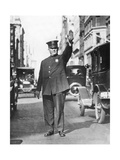 Traffic Policeman in the USA, 1935 Photographic Print by  Scherl