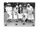 English Women Playing Bowls, 1936 Photographic Print by  Scherl