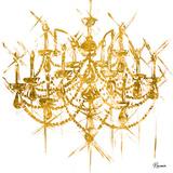 Gold Chandelier (gold foil) Affischer av Heather French-Roussia