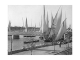 Segelboote in Kairo, 1907 Photographic Print by  Scherl