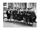 Female Undergraduates Arriving for University of London Presentation Day, 1936 Photographic Print by  Scherl