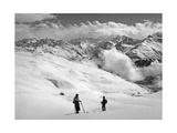 Skifahrer bei Arosa Fotografisk tryk af SZ Photo