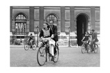 Bicylists in Paris, 1940 Photographic Print by  Scherl