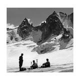 Bergsteiger in der Schweiz, 1939 Fotografisk trykk av  Knorr & Hirth
