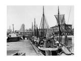 Hafen von Stralsund, 1937 Fotografisk trykk av  Süddeutsche Zeitung Photo