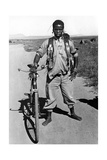 Zulu with a Bicycle in South Africa, 1938 Photographic Print by  Scherl